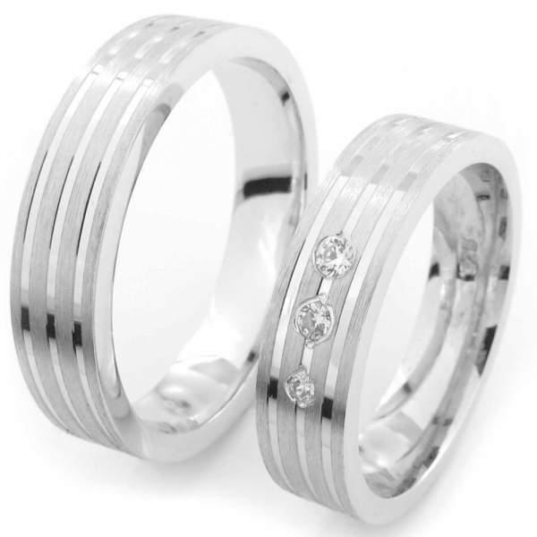 Verlobungsringe Silber Zirkonia Cilor CRG14