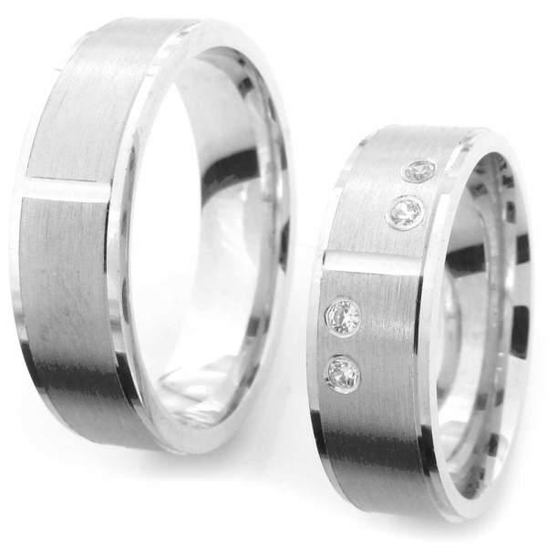 Verlobungsringe Silber Zirkonia Cilor CRG38