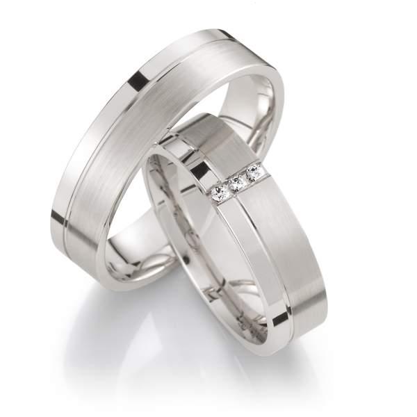 Verlobungsringe Silber Brillant Weidner 62029
