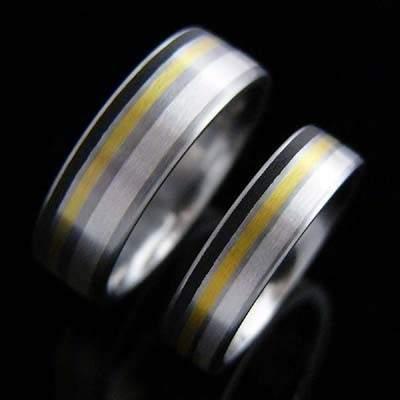 Trauringe Edelstahl Gold SCHOOP.Design R98-R07