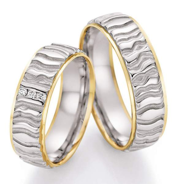 Trauringe Gold Honeymoon Solid Brillant 66-45030