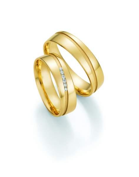 Trauringe Gold Honeymoon Solid Brillant 66-48150