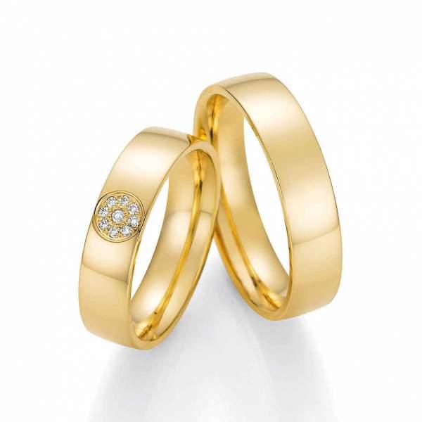 Trauringe Gold Honeymoon Solid Brillant 66-60050