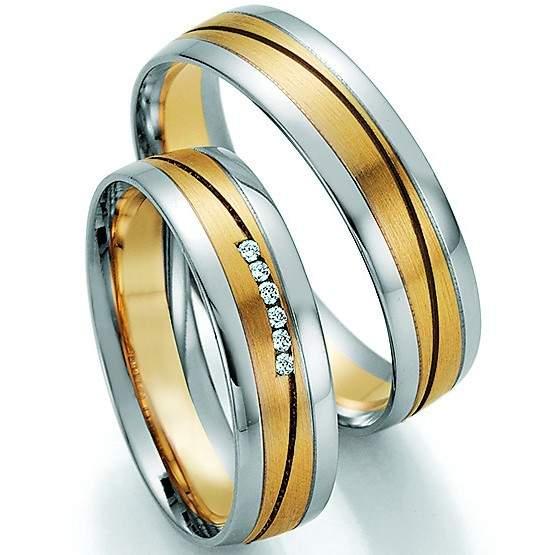 Trauringe Gold Palladium Honeymoon Pure Brillant 66-32030