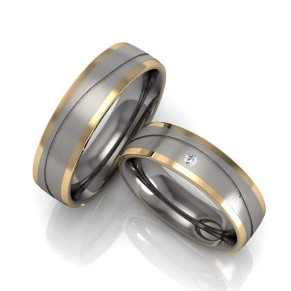 Trauringe Titan Gold Brillant 78/80020