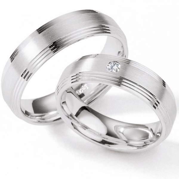 Verlobungsringe Silber Brillant 55/01200