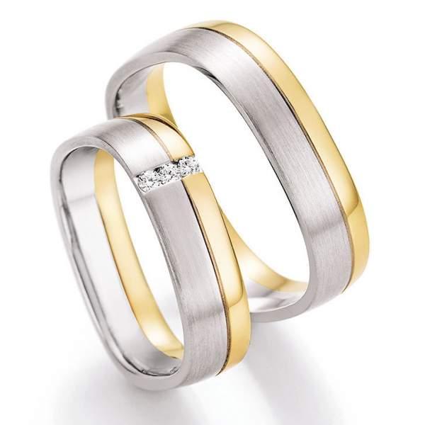 Trauringe Gold Honeymoon Solid Brillant 66-45070