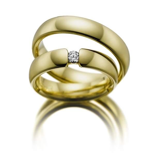 Trauringe Gelbgold Brillant Weidner 61082