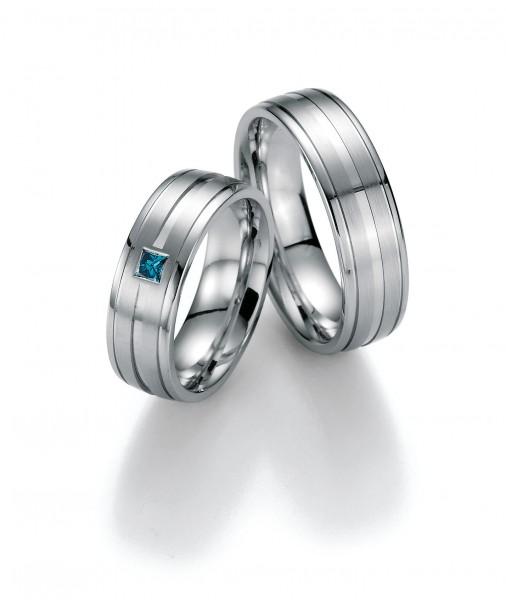 Trauringe Weißgold Honeymoon Premium Diamant 02-40830