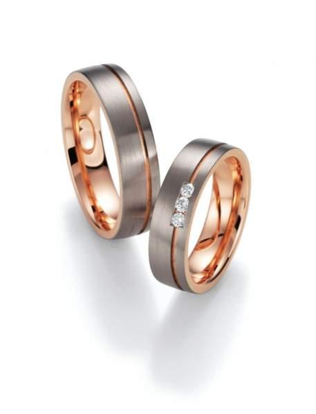 Trauringe Gold Honeymoon Premium Brillant 02-40010