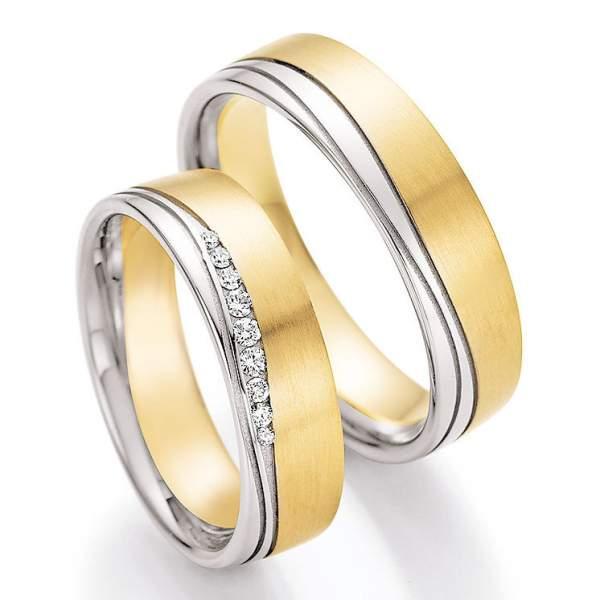 Trauringe Gold Honeymoon Solid Brillant 66-45090