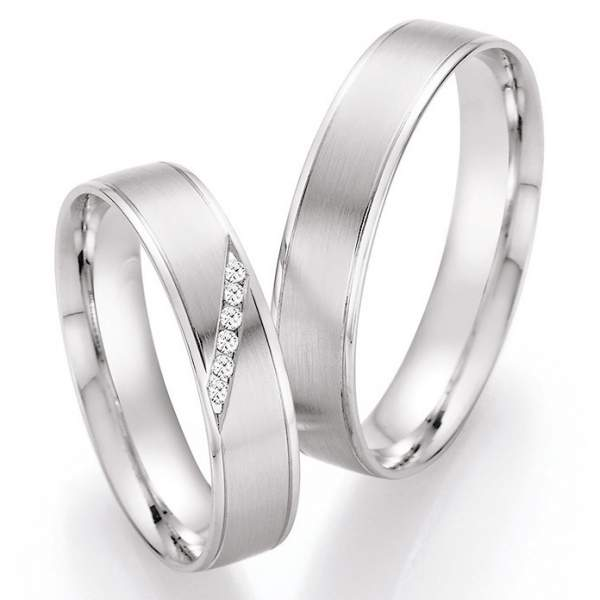 Trauringe Platin Honeymoon Pure Brillant 66-41130