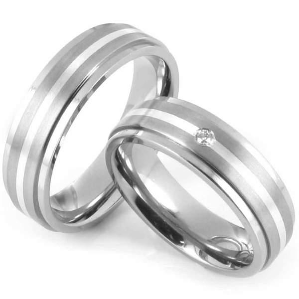 Verlobungsringe Titan Silber Brillant Cilor 20011