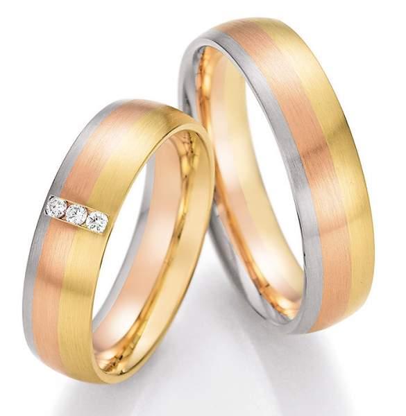 Trauringe Gold Palladium Sunrise Brillant 66-44090