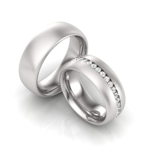 Verlobungsringe Silber Zirkonia ID1479