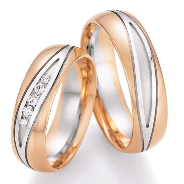 Trauringe Gold Honeymoon Solid Brillant 66-42130