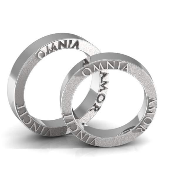 Verlobungsringe 925 Silber seitlicher Gravur