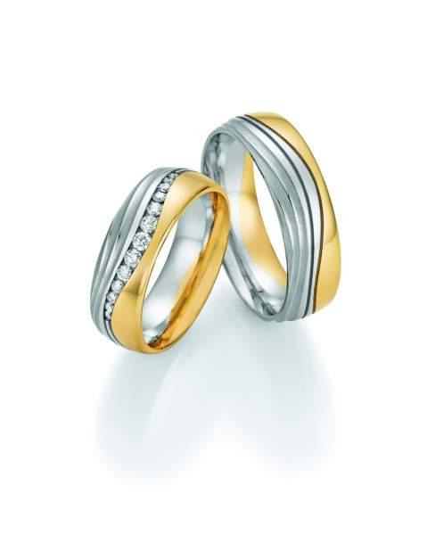Trauringe Gold Palladium Honeymoon Premium Brillant 02-51090_GPD