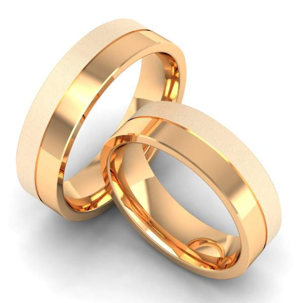 6 mm Rosegold Ringe