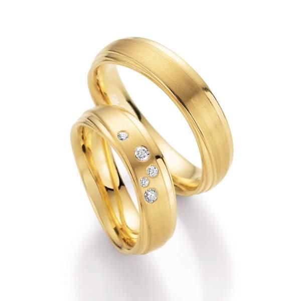 Trauringe Gelbgold Honeymoon Sensation Brillant 66-10370