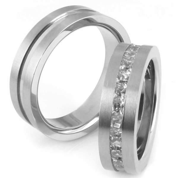 Verlobungsringe Titan Zirkonia Cilor 20026