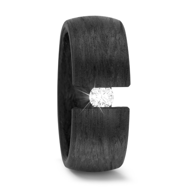 Antragsring Carbon mit Diamant