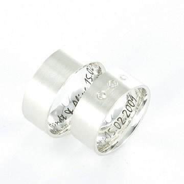 Verlobungsringe Silber Zirkonia ID322