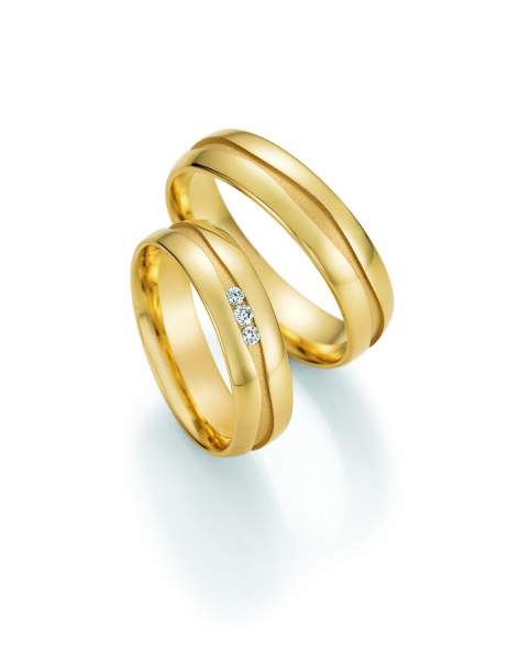 Trauringe Gold Honeymoon Solid Brillant 66-47030