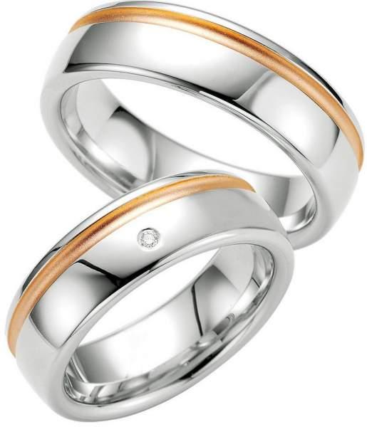 Verlobungsringe Silber Brillant Breuning 48/08025