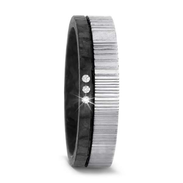 Antragsring Damaszener Stahl Carbon TitanFactory 52540