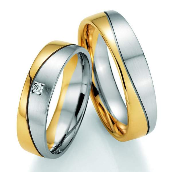 Trauringe Gold Palladium Honeymoon Variation Brillant 66-40130
