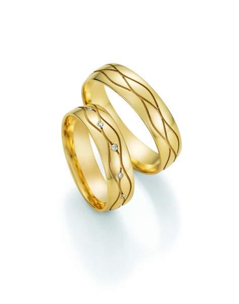Trauringe Gold Honeymoon Solid Brillant 66-47170
