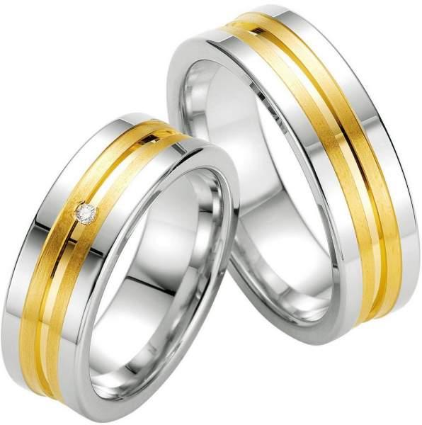 Verlobungsringe Silber Brillant Breuning 48/08031