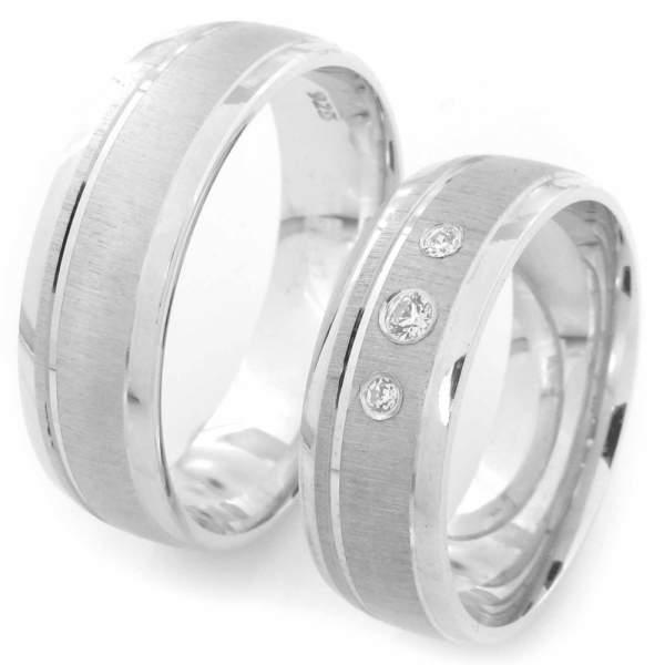 Verlobungsringe Silber Zirkonia Cilor CRG22