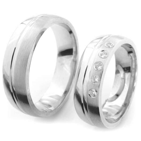 Verlobungsringe Silber Zirkonia Cilor CRG45