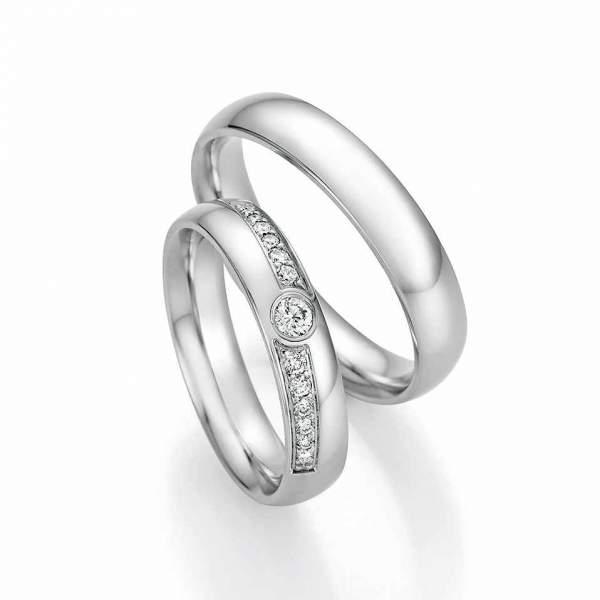 Trauringe Gold Honeymoon Solid Brillant 66-60130