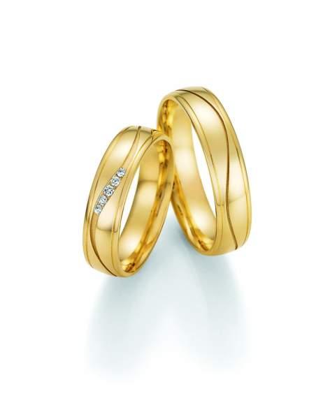 Trauringe Gold Honeymoon Solid Brillant 66-48170