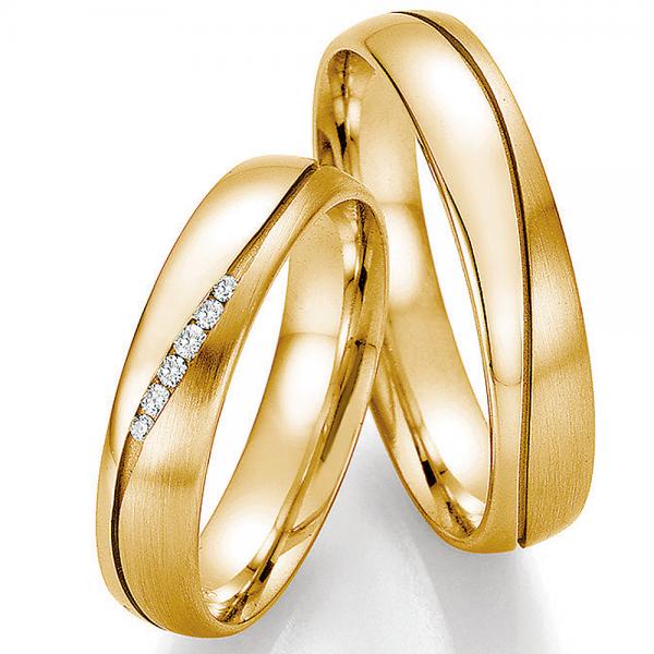 Trauringe Gold Honeymoon Infinity Brillant 66-35130