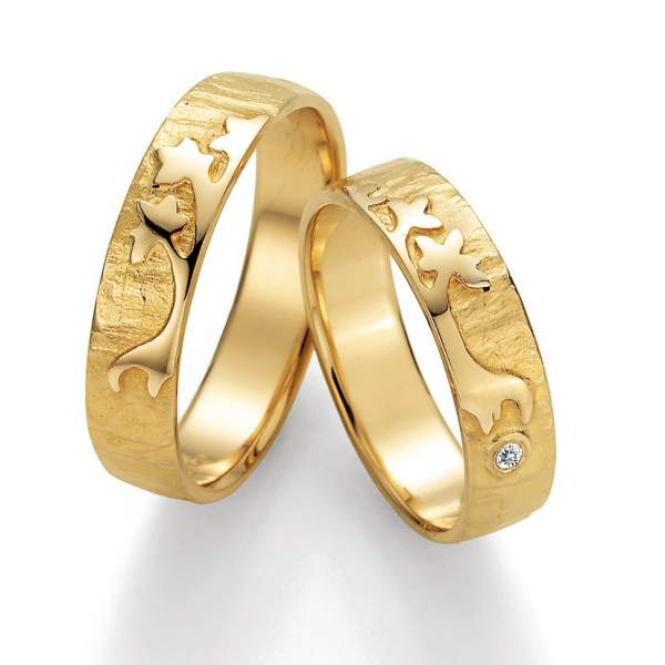 Trauringe Gold Signs of Love Brillant 66/51090