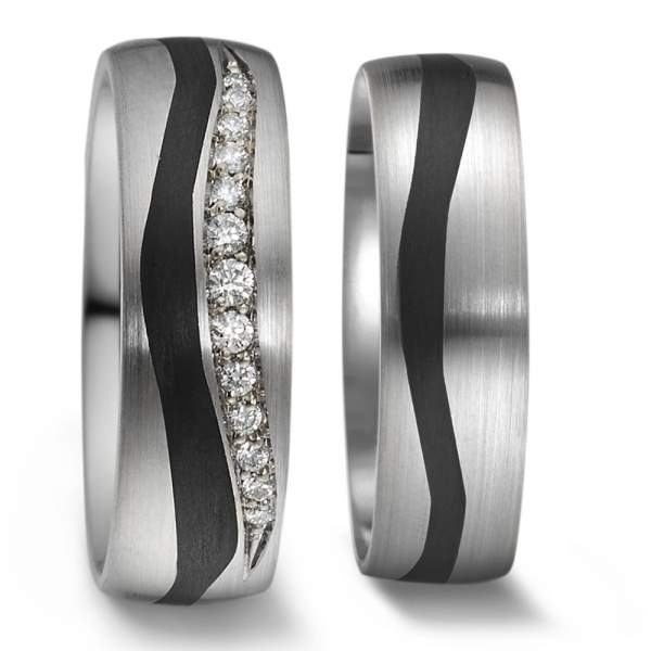 Trauringe Carbon Silber Brillant Weidner 76023