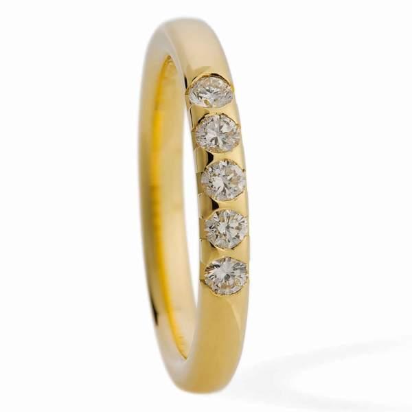 Memoryring Gold Brillant 800553