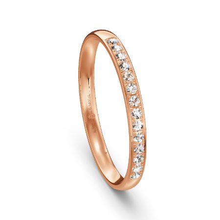 Klassischer Memoire-Ring in Roségold