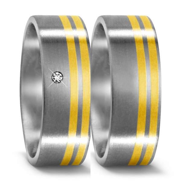 Trauringe Gelbgold Brillanten Titan Factory 50958