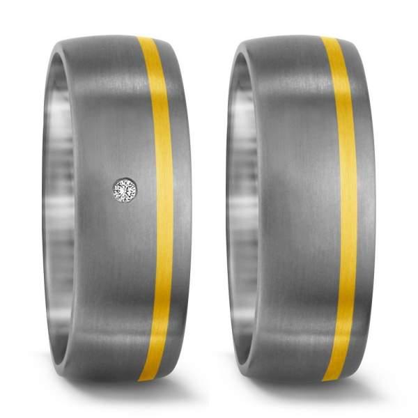 Trauringe Gelbgold Brillanten Titan Factory 51300