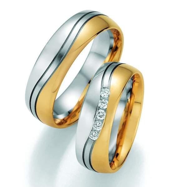 Trauringe Gold Honeymoon Variation Brillant 66-40110