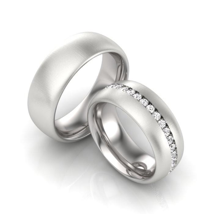 Verlobungsringe Silber mit Zirkonia