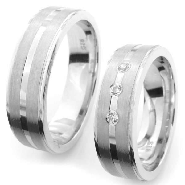 Verlobungsringe Silber Zirkonia Cilor CRG47