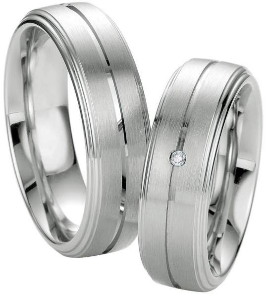 Verlobungsringe Silber Brillant Breuning 48/08045
