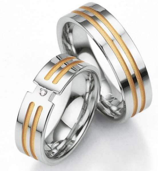Verlobungsringe Silber Brillant Breuning 48/08011