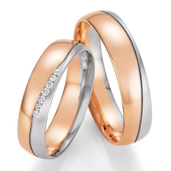 Trauringe Gold Honeymoon Solid Brillant 66-46010